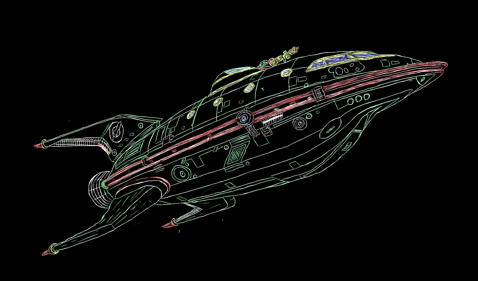 Ship from Futurama